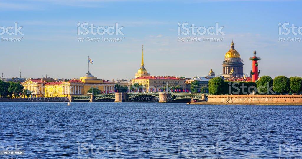 Panorama of St Petersburg, Russia stock photo