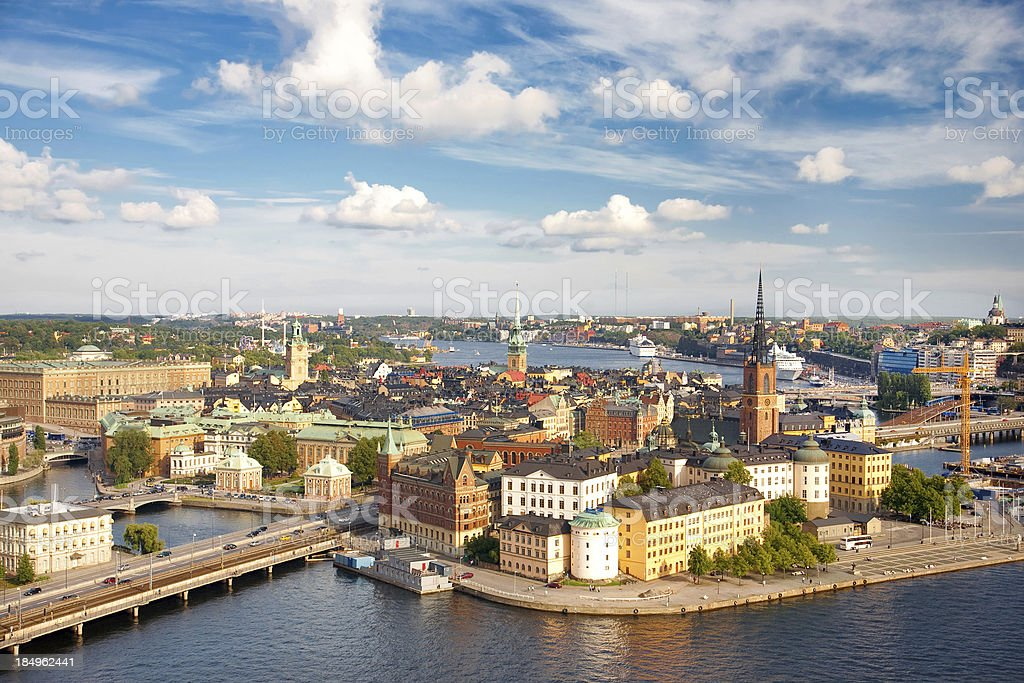 'Panorama of Stockholm, Sweden' stock photo