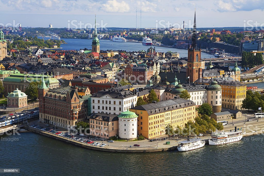 Panorama of Stockholm, Sweden stock photo