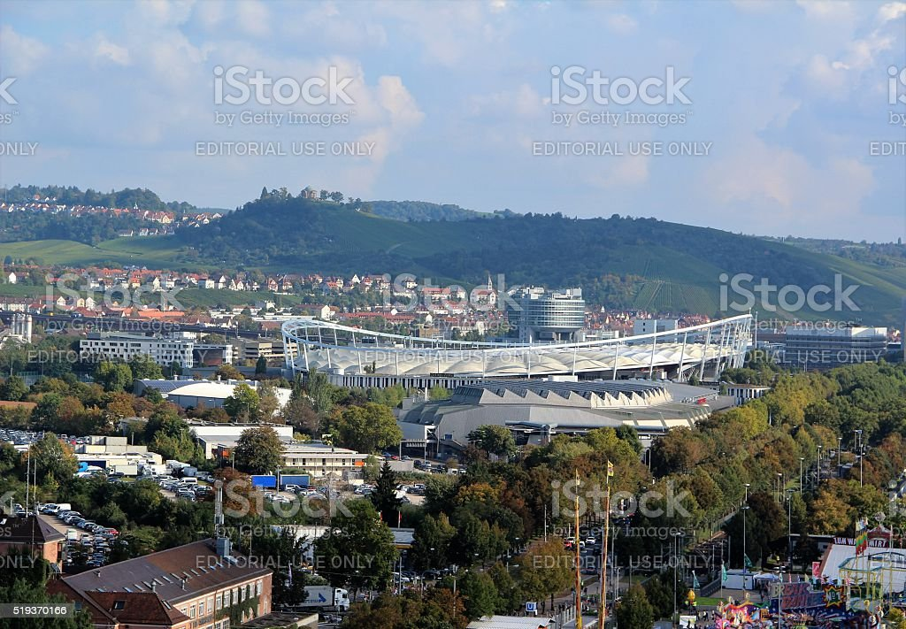 Panorama of Stuttgart stock photo