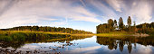 panorama of summer river