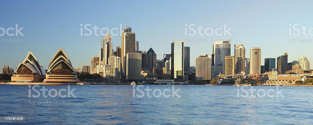 Panorama of Sydney coastal skylines stock photo