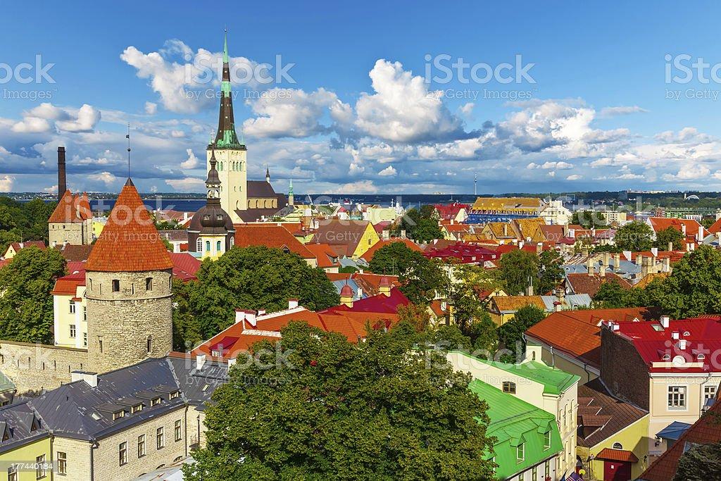 Panorama of Tallinn, Estonia stock photo
