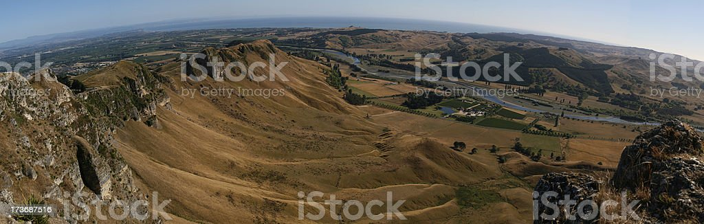 Panorama of Te Mata and Hawkes Bay, NZ stock photo