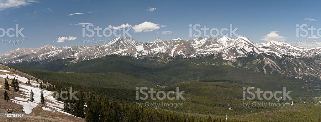 Panorama of Ten Mile Mountain Range stock photo