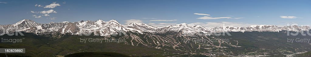 Panorama of Ten Mile Mountain Range stock photo