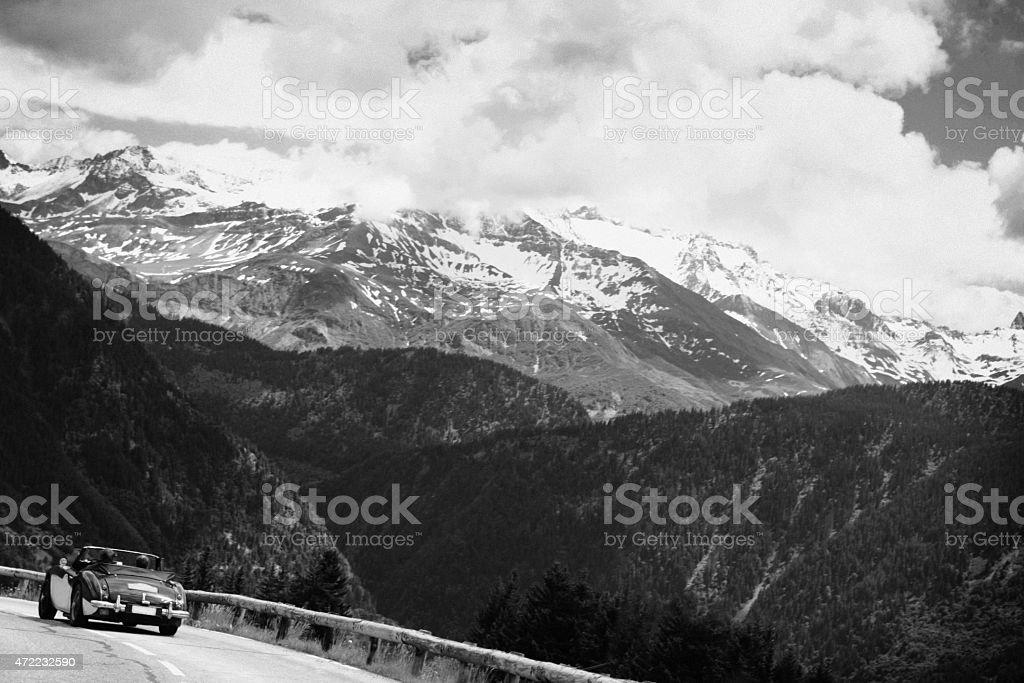 Panorama of the Alps in Switzerland royalty-free stock photo