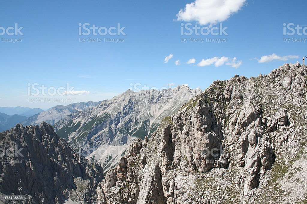 Panorama of the Alps, Nordkette close to Innsbruck, Tyrol, Austria. royalty-free stock photo