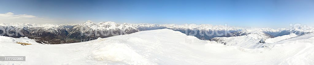 XXXL panorama of the Alps stock photo