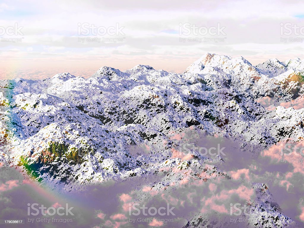 Panorama of the Alps royalty-free stock photo