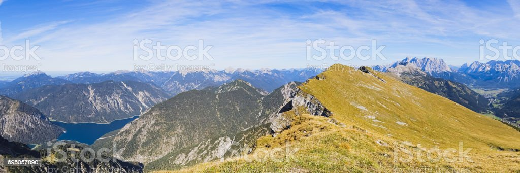 Panorama of the Alps stock photo