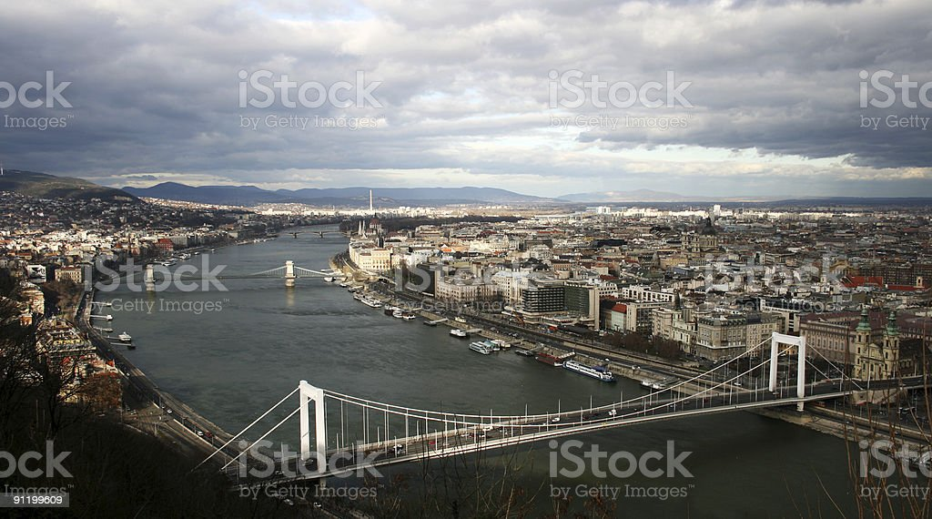 Panorama of the Budapest royalty-free stock photo