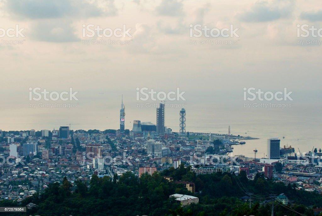 Panorama of the center of Batumi stock photo