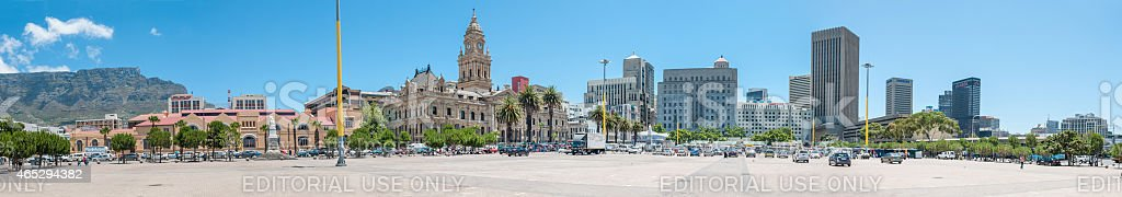 Panorama of the city centre in Cape Town, South Africa stock photo