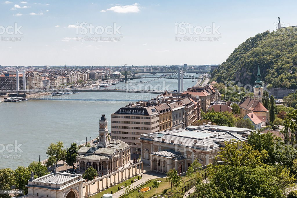 panorama of the city of Budapest, Hungary stock photo
