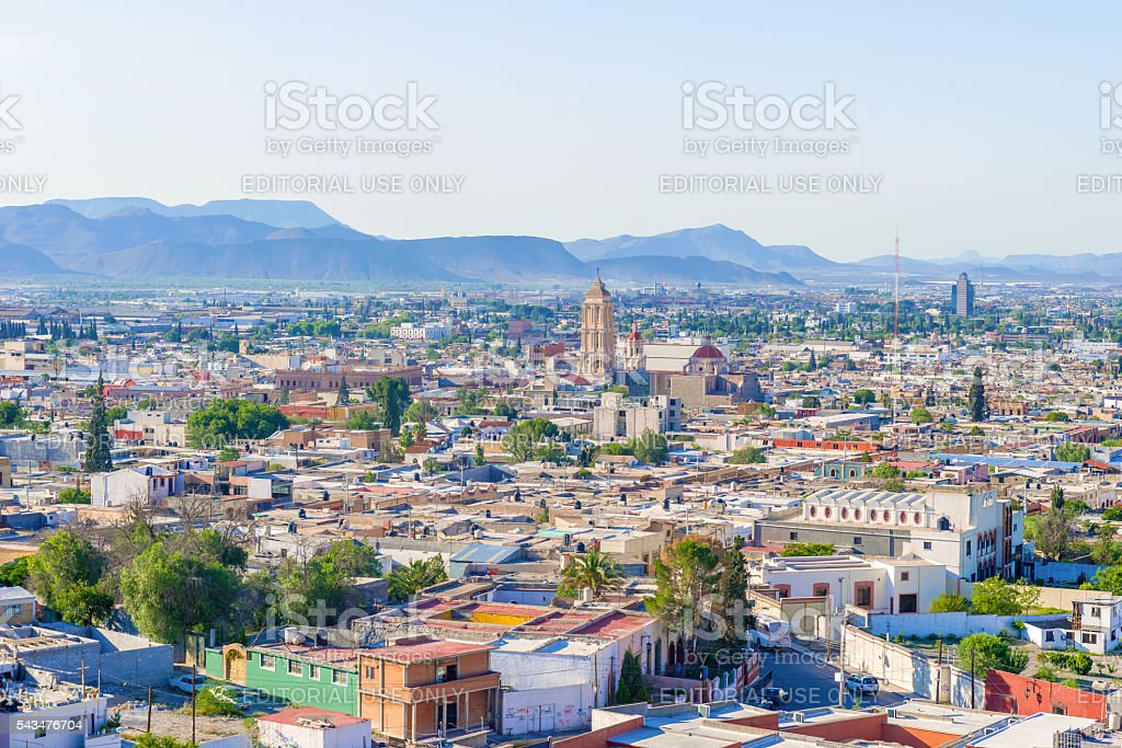 Panorama of the city of Saltillo in Mexico. stock photo