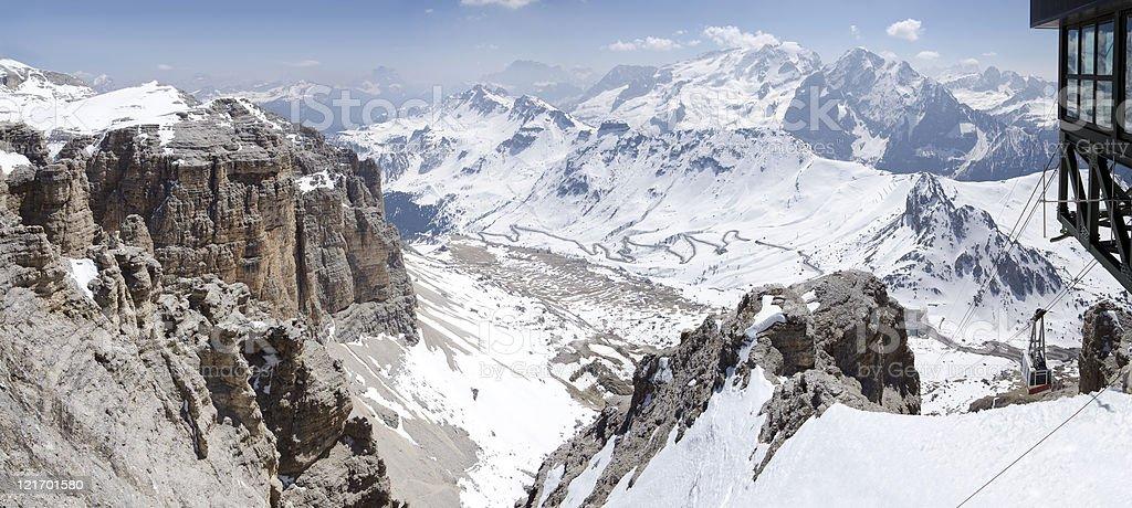 Panorama of the Dolomites. royalty-free stock photo