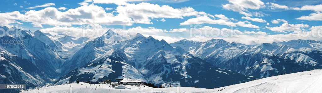 Panorama of the european alps austria stock photo