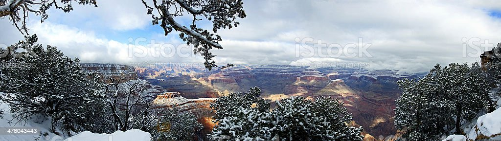 Panorama of the Grand Canyon stock photo