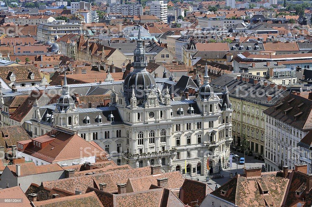 Panorama of the Graz royalty-free stock photo