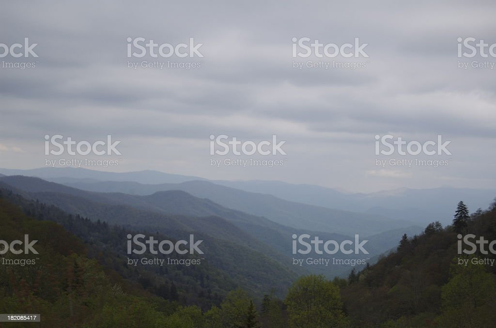 Panorama of the Great Smoky Mountains royalty-free stock photo
