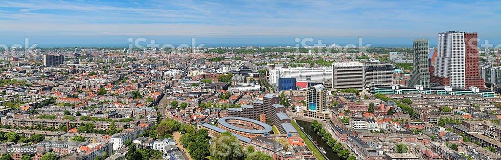Panorama of The Hague stock photo