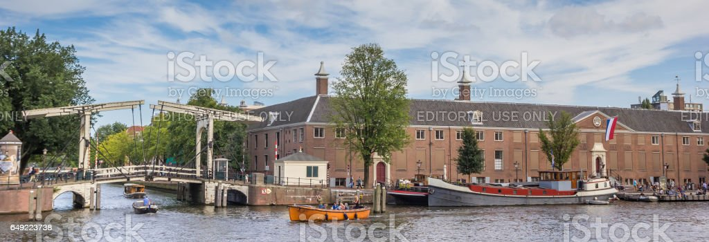 Panorama of the Hermitage Museum in Amsterdam, The Netherlands stock photo