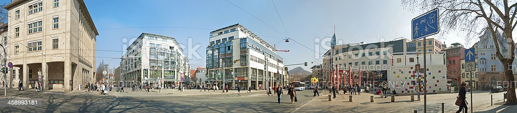 Panorama of the Holzmarkt in Jena Germany royalty-free stock photo