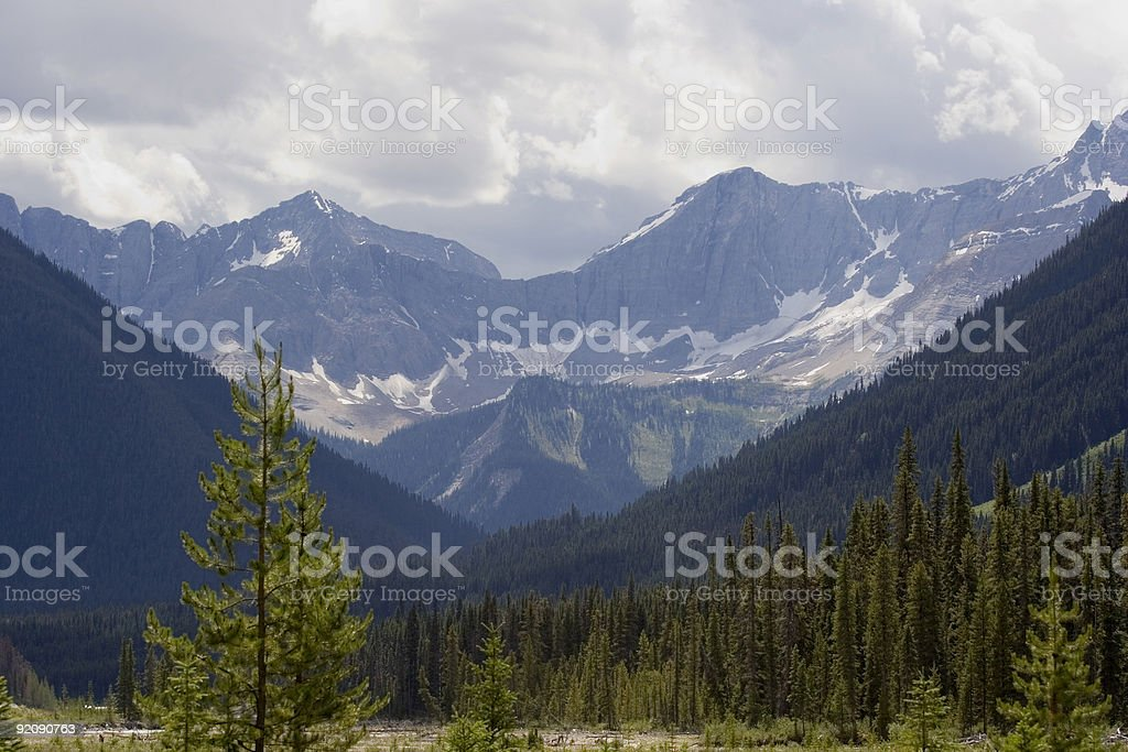panorama of the kootenay national park before a thunderstorm royalty-free stock photo