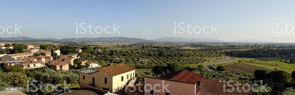 Panorama of the Maremma - Tuscany stock photo