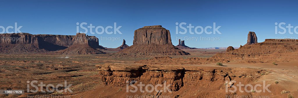 Panorama of the Monument Valley royalty-free stock photo