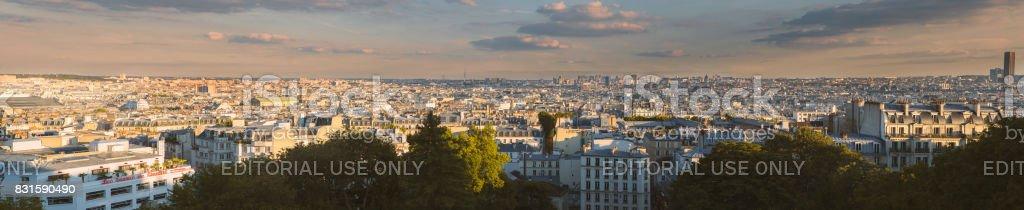Panorama of the Paris stock photo
