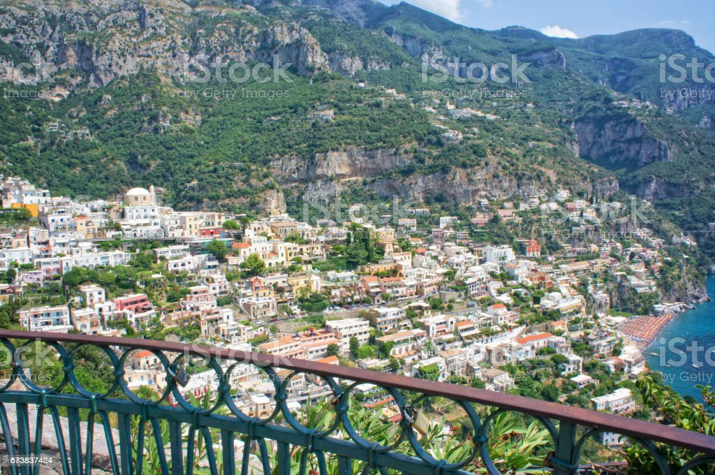 Panorama of the Positano coast - Italy stock photo