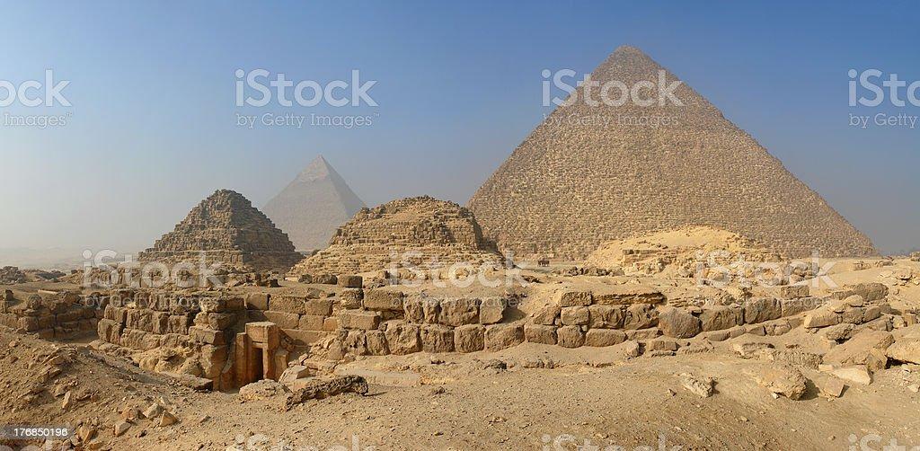 Panorama Of The Pyramids royalty-free stock photo