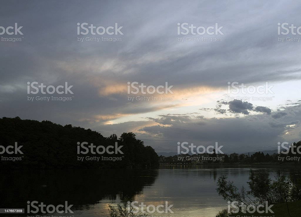 panorama del fiume royalty-free stock photo