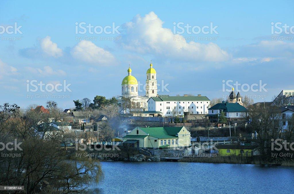 Panorama of the river Ros. City of Bila Tserkva. Ukraine. stock photo