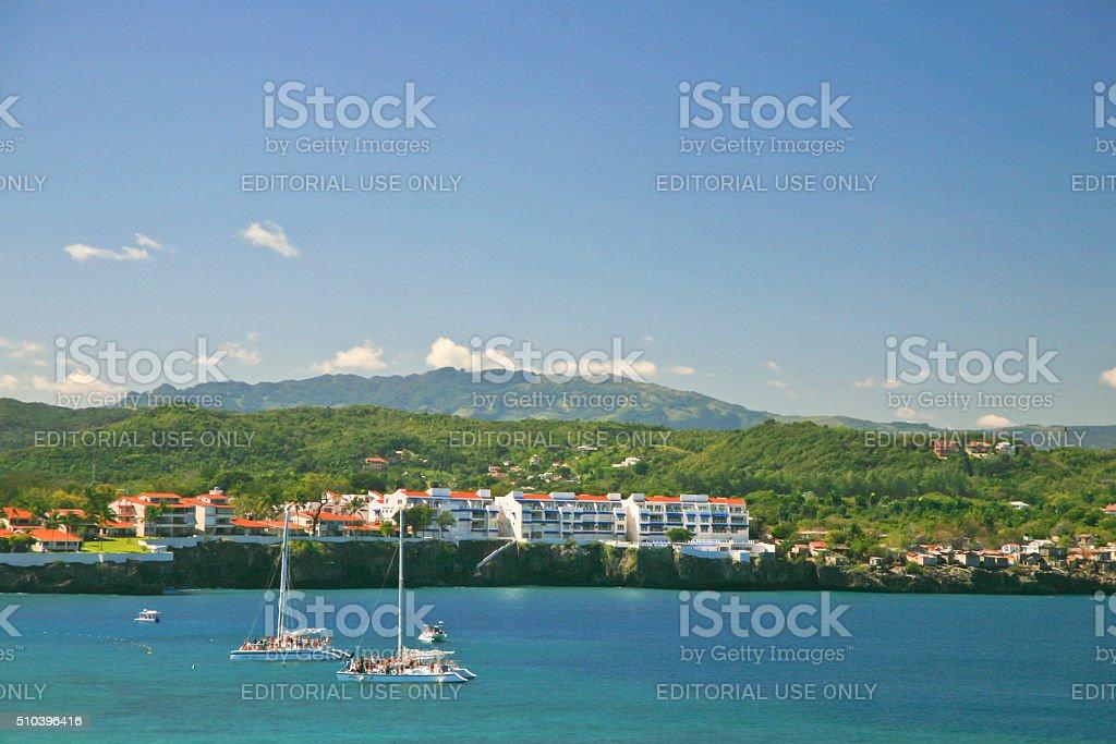Panorama of the Shore, Sosua, Dominican Republic stock photo