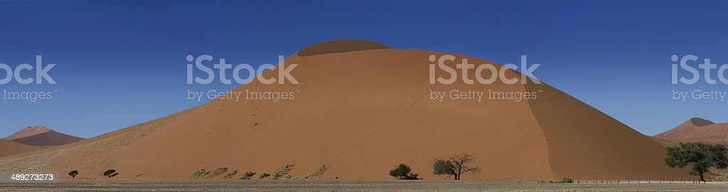 Panorama of the Sossusvlei dune field stock photo