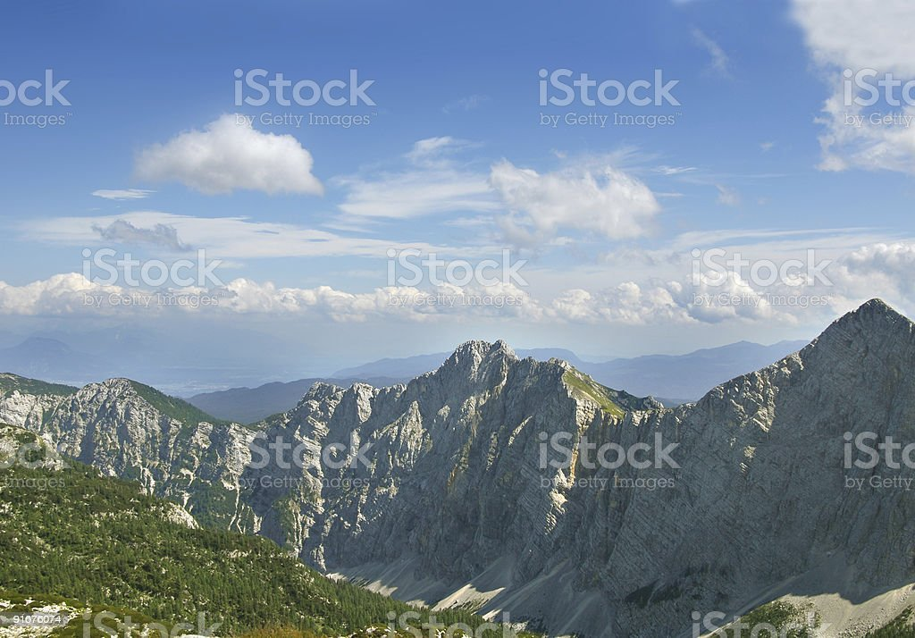 Panorama of the valley royalty-free stock photo