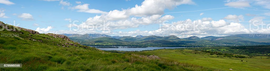 panorama of the view from the kerry way stock photo