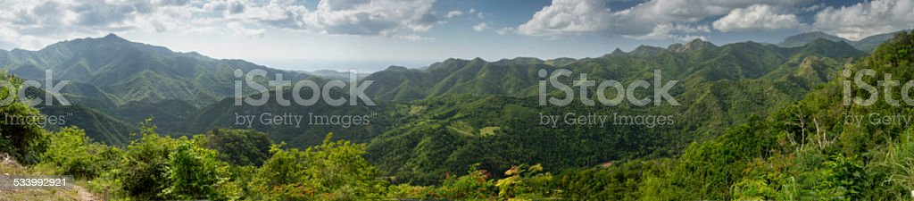 Panorama of the Von Humboldt Nature Reserve in Cuba stock photo