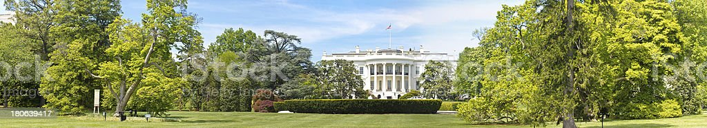 Panorama of The white House in Washington DC stock photo