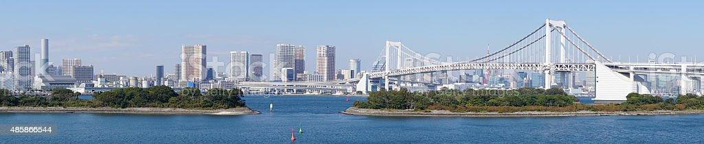 Panorama of Tokyo as seen from Odaiba stock photo