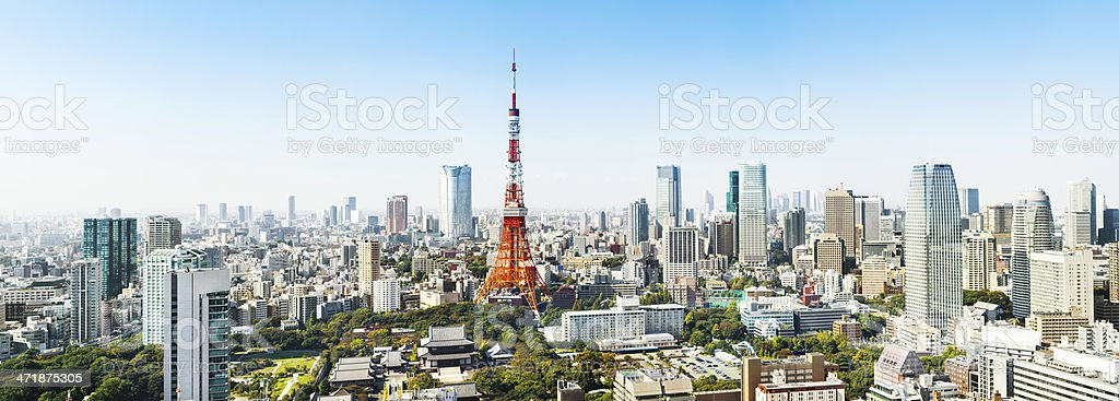 Panorama of Tokyo, Japan stock photo