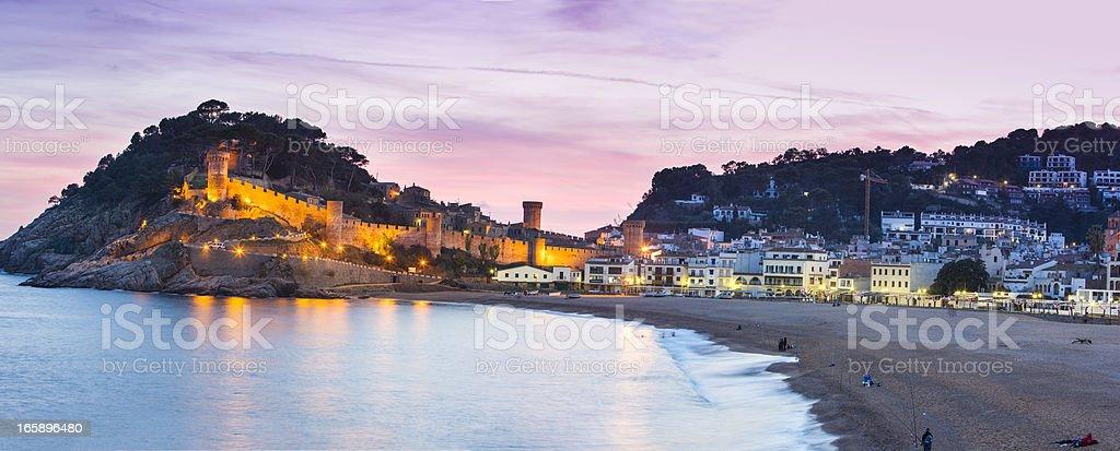 Panorama of Tossa de Mar stock photo