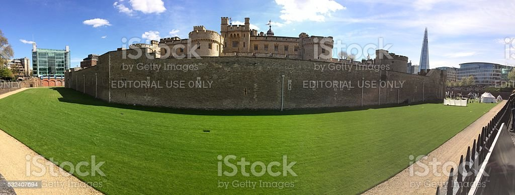 Panorama of Tower of London stock photo