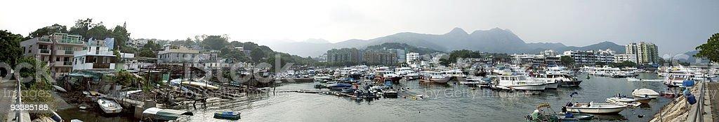 panorama de la ciudad de Hong Kong foto de stock libre de derechos