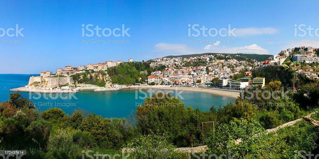 Panorama of Ulcinj royalty-free stock photo