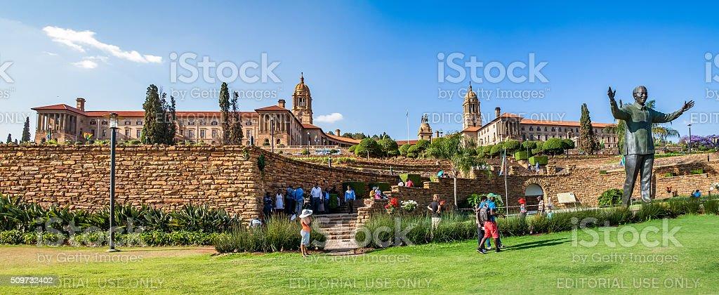 Panorama of  Union Buildings in Pretoria stock photo