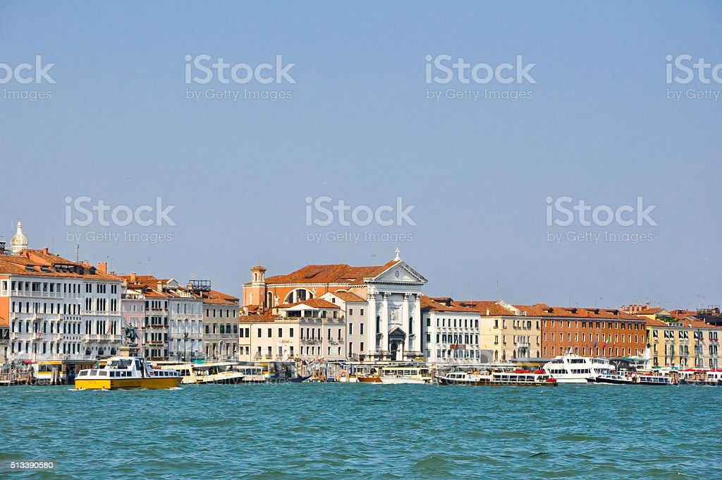 Panorama of Venice and the Grand Canal in Italy. stock photo